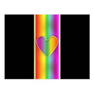 Formal Rainbow Heart Postcard