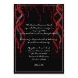 "Formal Red Ribbon Heart Valentine Party Invitation 5"" X 7"" Invitation Card"