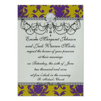 formal royale damask design card