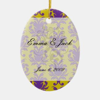 formal royale damask design ceramic ornament