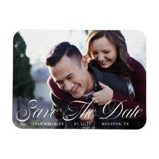 Formal Script Save The Date Magnet