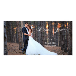 Formal Script | Wedding Thank You Photo Card