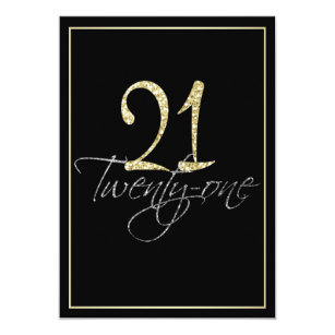 Formal birthday invitations zazzle formal silver black and gold 21st birthday party invitation stopboris Image collections