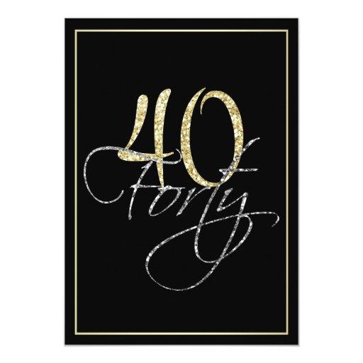 40 Birthday Invitation was adorable invitations sample