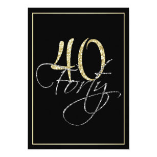 Formal birthday invitations zazzle formal silver black and gold 40th birthday party invitation stopboris Image collections