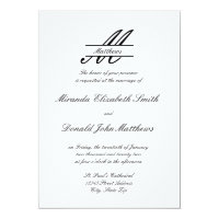 Formal Simple Elegant - Wedding Invitation