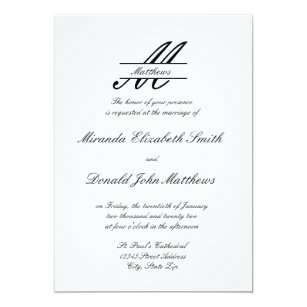 Simple Wedding Invitations Announcements Zazzle