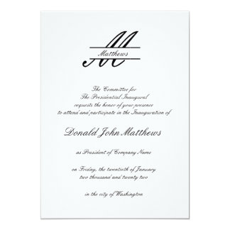 Formal Simple - Inaugural Invitation