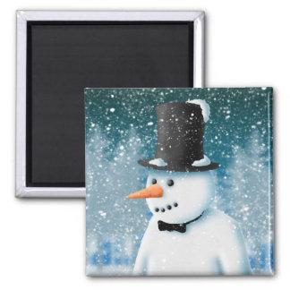 Formal Snowman Refrigerator Magnet