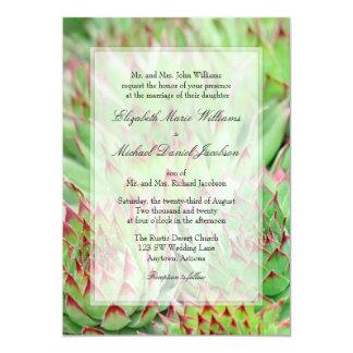 Formal Succulents Wedding Invitations