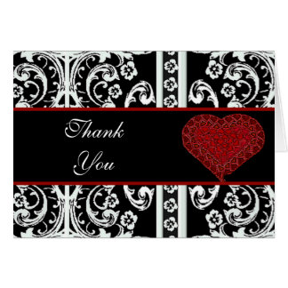 Formal Thank You Greeting Card