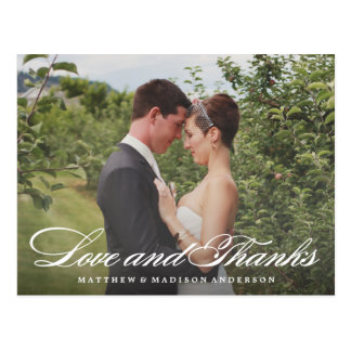 Formal Thank You Wedding Overlay Postcard