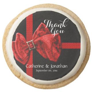 Formal thank you wedding round shortbread cookie