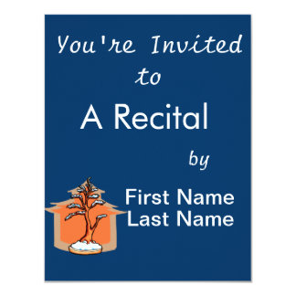 Formal Upright With House Snow Bonsai Graphic 4.25x5.5 Paper Invitation Card