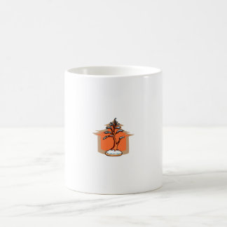 Formal Upright With House Snow Bonsai Graphic Classic White Coffee Mug