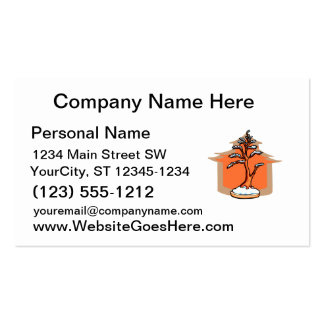 Formal Upright With House Snow Bonsai Graphic Double-Sided Standard Business Cards (Pack Of 100)
