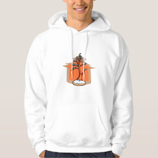 Formal Upright With House Snow Bonsai Graphic Hooded Pullover