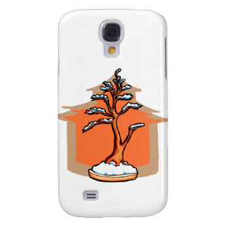 Formal Upright With House Snow Bonsai Graphic Samsung Galaxy S4 Cover