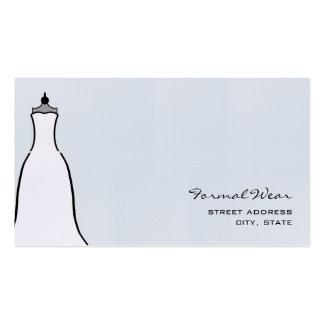 Formal Wear Boutique - A Line Wedding Dress Business Card
