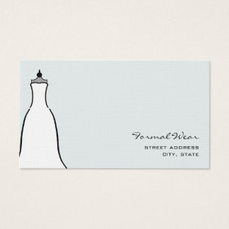 Formal Wear Boutique - A Line Wedding Dress Business Card