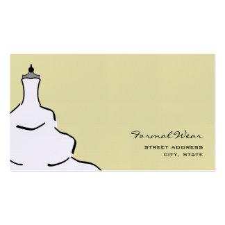 Formal Wear Boutique Business Card