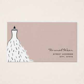 Formal Wear Boutique - Feathery Wedding Dress Business Card