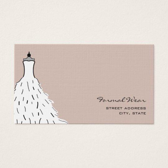 Formal wear boutique feathery wedding dress business card formal wear boutique feathery wedding dress business card stopboris Image collections