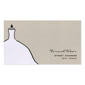 Formal Wear Boutique - Full Wedding Dress Business Card