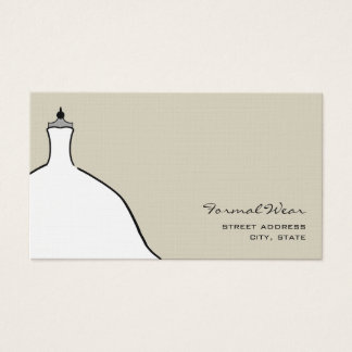 Formal Wear Boutique - Full Wedding Dress Business Card
