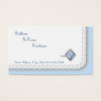 Formal Wear Boutique with Gem Cufflink & Lace Business Card