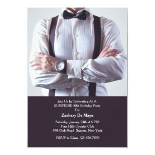 Formal wear invitations announcements zazzle formal wear mens birthday party invitation stopboris Images