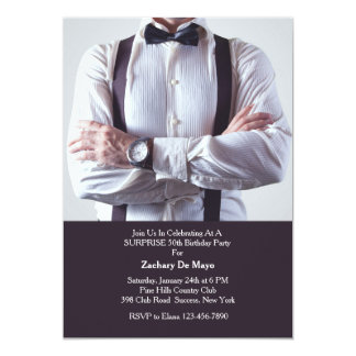 Formal wear invitations announcements zazzle formal wear men39s birthday party invitation stopboris Image collections