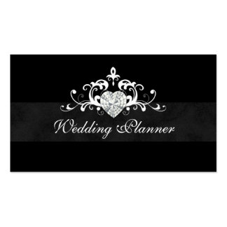 Formal Wedding Event Planner Heart Jewel Double-Sided Standard Business Cards (Pack Of 100)