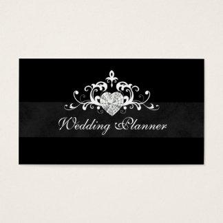 Formal Wedding Event Planner Heart Jewel Business Card