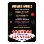 Formal Wedding in Fabulous Las Vegas Sign Poker Card