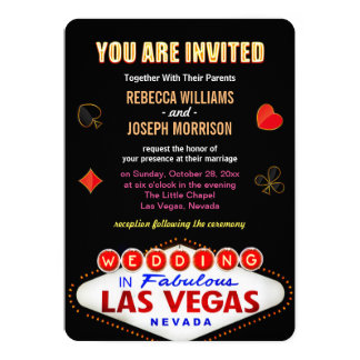 Formal Wedding in Fabulous Las Vegas Sign Poker Card