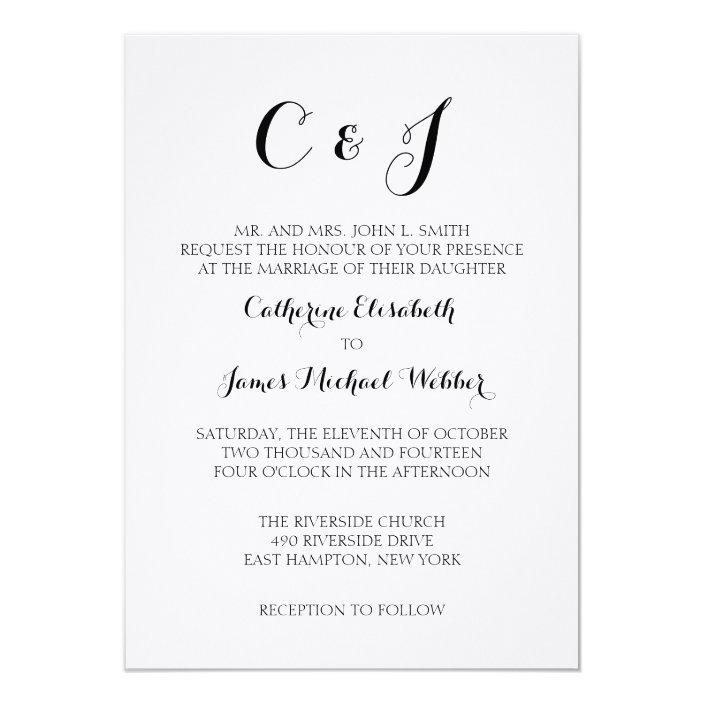 Formal Wedding Invitation Wording Bride