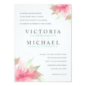 Formal Wedding Invitations Stargazer Pink & White 5.5