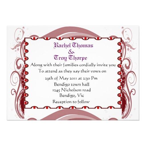 Formal wedding invite