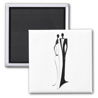 Formal Wedding Reception Bride Groom Save The Date Magnet