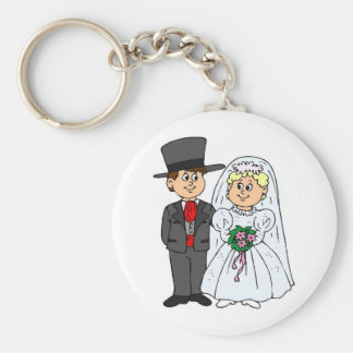 Formal Wedding Style Tophats Keychain