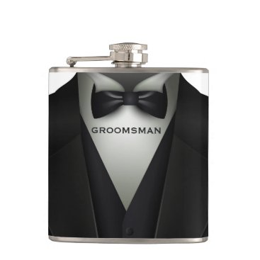 Wedding Themed Formal Wedding Tuxedo | Elegant Groomsman Flask
