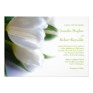 Formal White Wedding Invitation