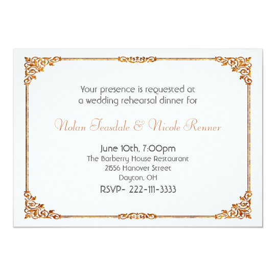 formal white wedding rehearsal dinner invitation zazzle com