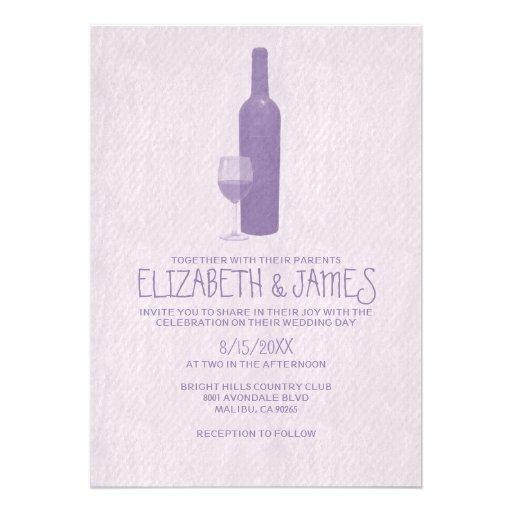 Formal Wine Bottles Wedding Invitations