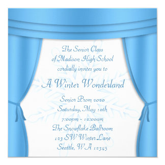 Formal Winter Wonderland Snowflake Prom Card