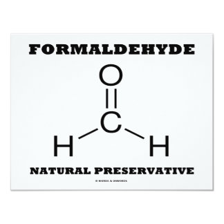 Formaldehyde Natural Preservative (Molecule) Card