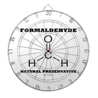 Formaldehyde Natural Preservative (Molecule) Dartboard With Darts