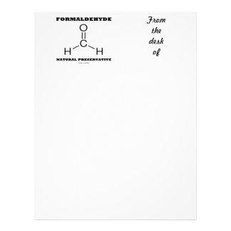 Formaldehyde Natural Preservative (Molecule) Customized Letterhead