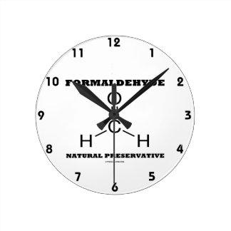 Formaldehyde Natural Preservative (Molecule) Round Clock